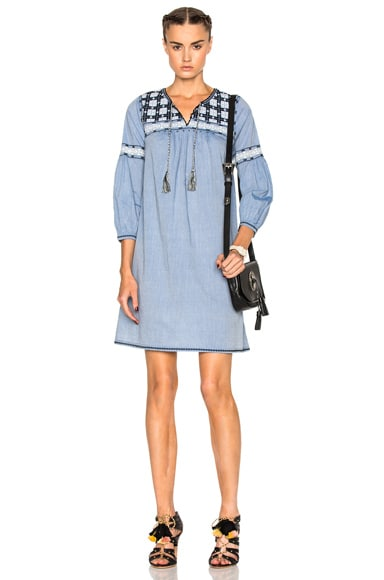 Ulla Johnson August Dress in Chambray