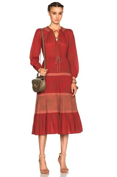 Ulla Johnson Varanasi Dress in Terracotta