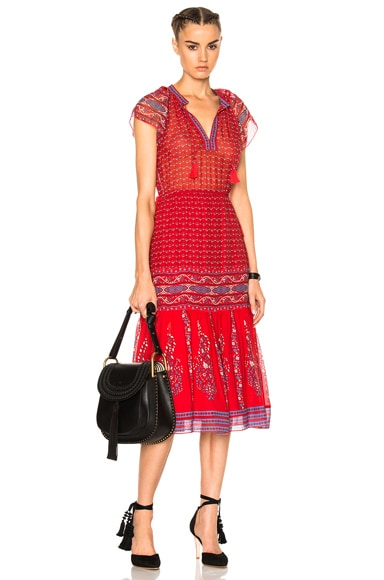 Ulla Johnson Neela Dress in Scarlet