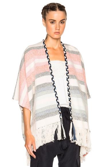 Ulla Johnson Georgia Wrap Sweater in Mixed Stripe