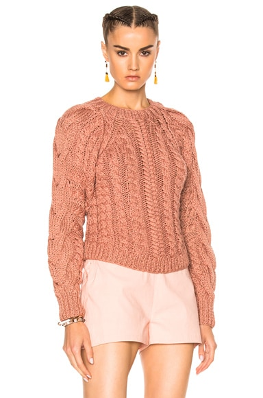 Ulla Johnson Niva Sweater in Rosewood
