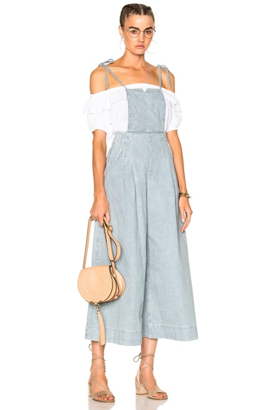 Ulla Johnson Rosina Overalls in Stripe
