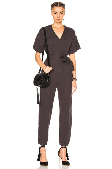 Ulla Johnson Reiko Jumpsuit in Charcoal