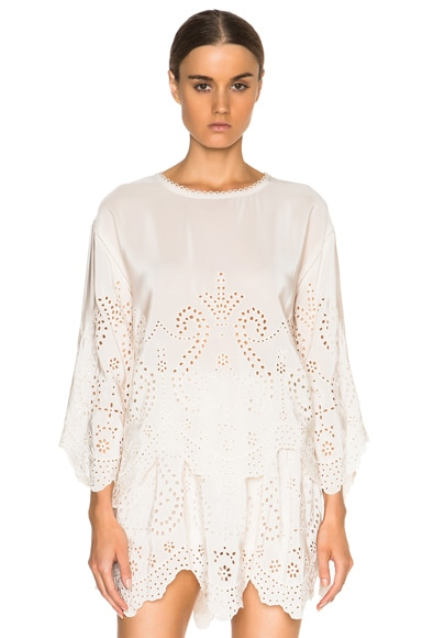 Ulla Johnson Althea Top in Snow