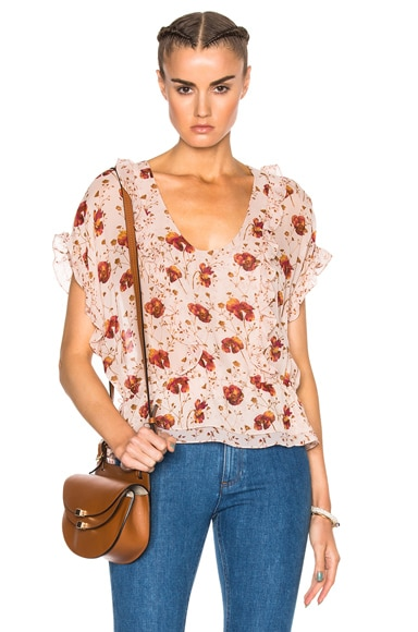 Ulla Johnson Lief Top in Rose