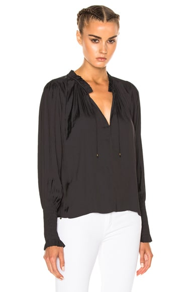 Ulla Johnson Claudia Top in Noir