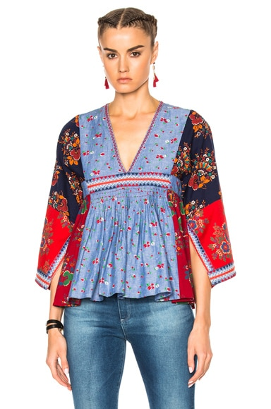 Ulla Johnson Nadi Top in Patchwork