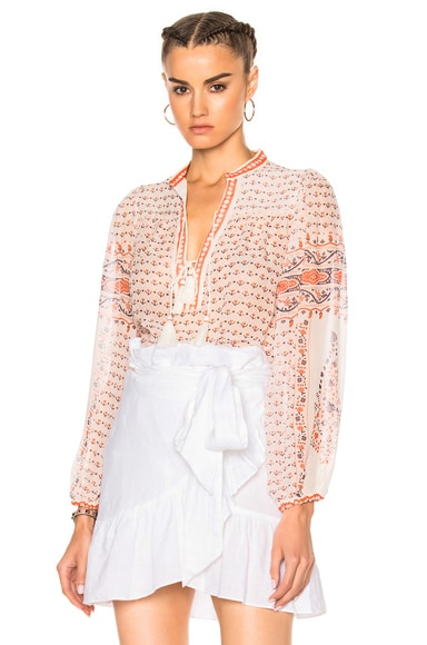 Ulla Johnson Amalia Top in Porcelain