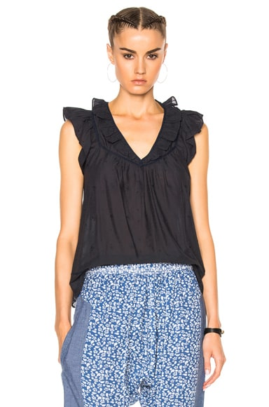 Ulla Johnson Adeline Top in Midnight