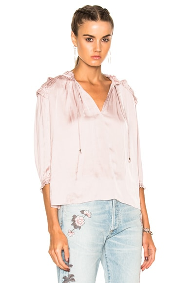Ulla Johnson Amaya Blouse in Lavender