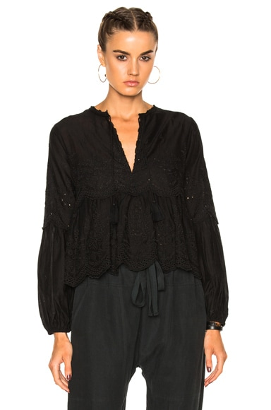 Ulla Johnson Lucie Blouse in Coal