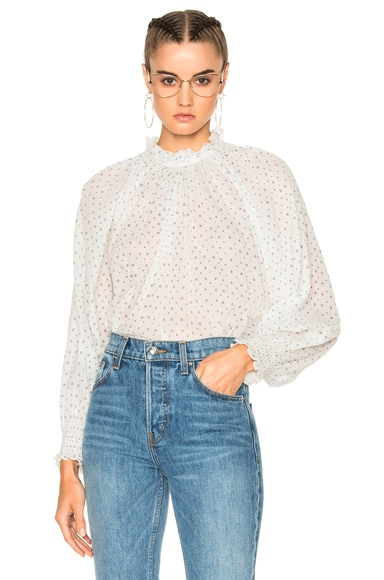 Ulla Johnson Mireille Blouse in Porcelain