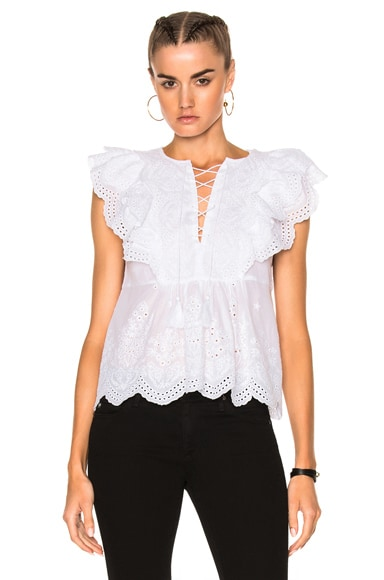 Ulla Johnson Monroe Top in Blanc