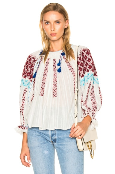 Ulla Johnson Mila Blouse in Natural