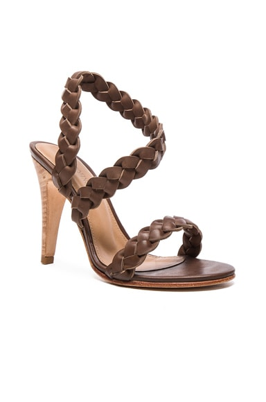 Leather Sima Braided Heels