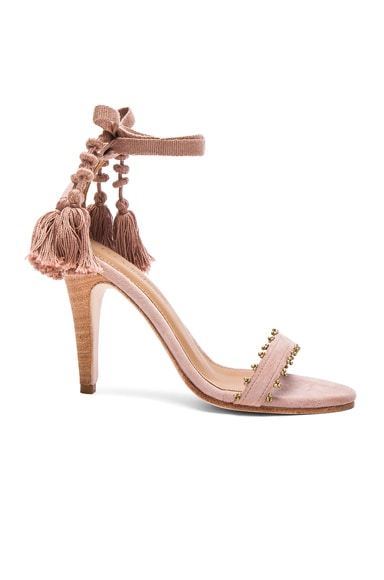 Ulla Johnson Suede Dani Heels in Rose Suede