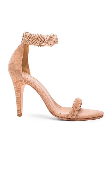 Ulla Johnson Suede Manu Heels in Taupe Suede
