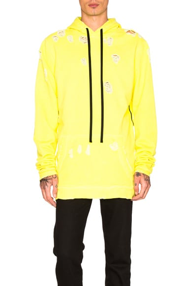 Unravel for FWRD Oversized Hoodie in Sunfaded Neon Yellow