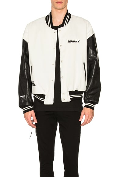 Triangle Rigid Denim Varsity Jacket
