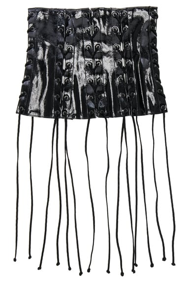 Latex All Over Lace Up Corset