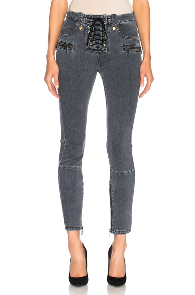 for FWRD Lace Up Skinny Jeans