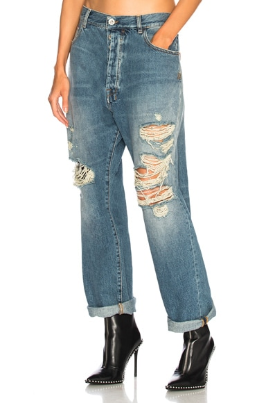 Rigid Denim Baggy Boy Jeans