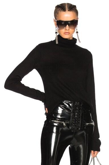 Boiled Cashmere Shrunken Turtleneck Sweater