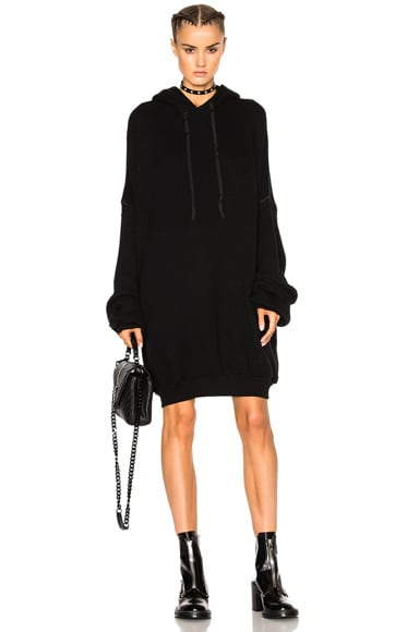 Unravel Cashmere Oversize Hoodie in Black
