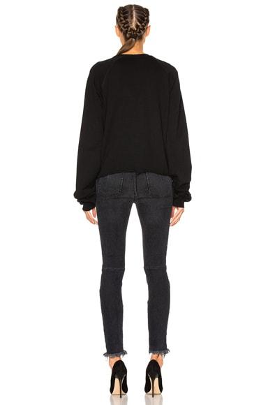 Terry Oversize Sleeve Raglan Sweatshirt
