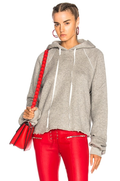 Cotton Cashmere Cropped Hoodie