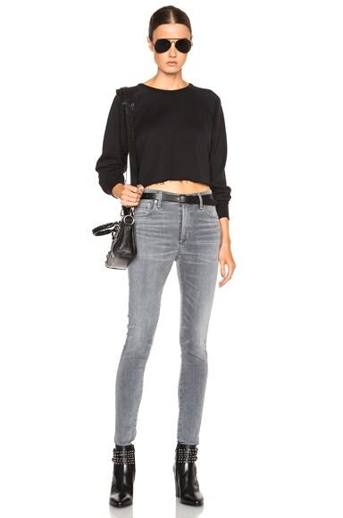 Cropped Raglan Sweatshirt