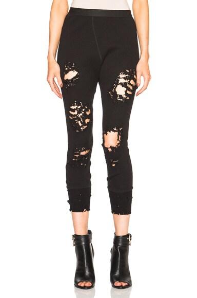 Unravel Cross Stitch Leggings in Black