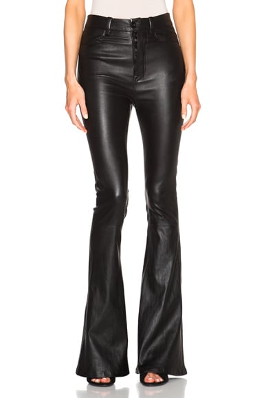 Unravel FWRD Exclusive High Waisted Flare Pants in Black