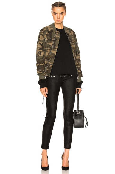 Suede Lace Up Skinny