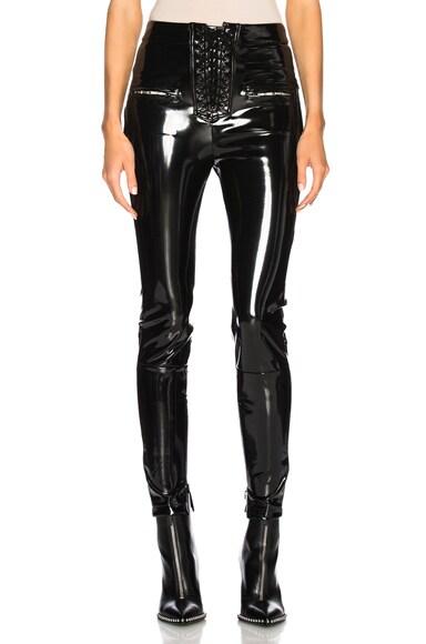 Latex Lace Up Seam Pants
