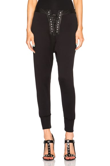 Unravel Lace Up Leggings in Black