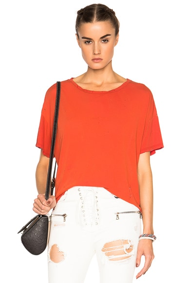 Unravel Sunfaded Boxy Tee in Lipstick