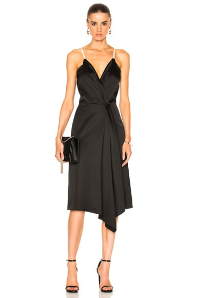 Heavy Fluid Silk Wrap Dress
