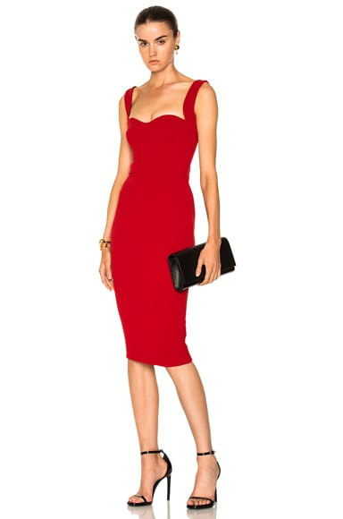 Matte Crepe Curve Cami Fitted Dress