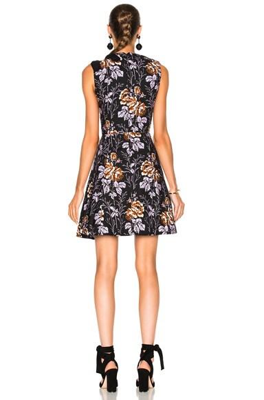 Cotton Print D-Ring Mini Dress