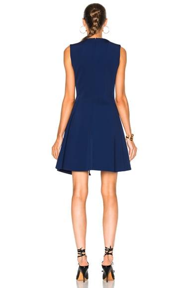 Dense Rib Sleeveless Drape Mini Dress