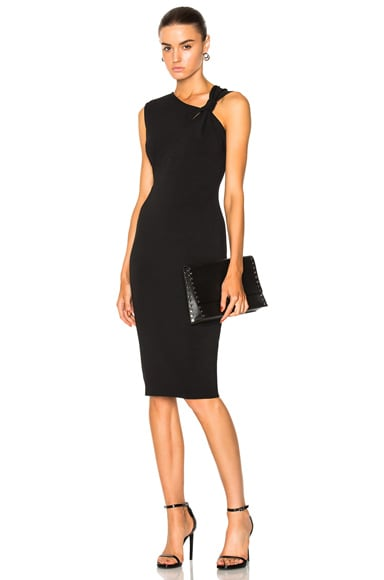 Matte Heavy Rib Jersey Sleeveless Knotted Dress