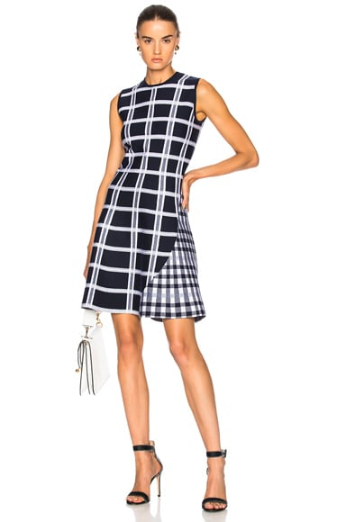 Tartan Check Intarsia Mini Dress