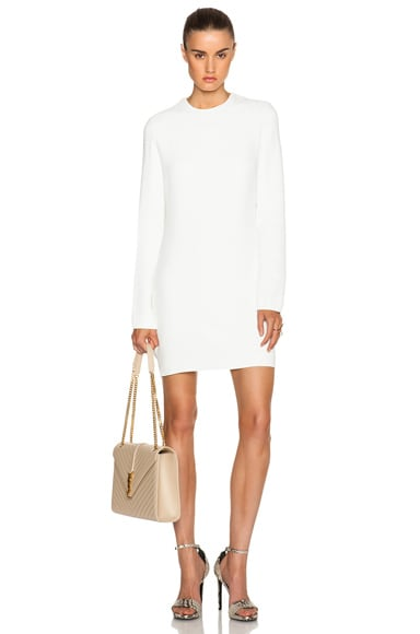 Victoria Beckham Cut Out Back Shift Dress in White