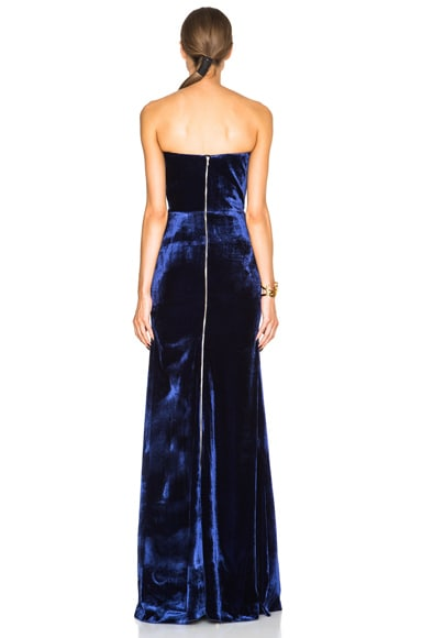 Velvet Corset Floor Length Gown