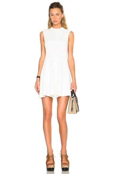 Victoria Beckham Cotton Rib Corset Mini Dress in White