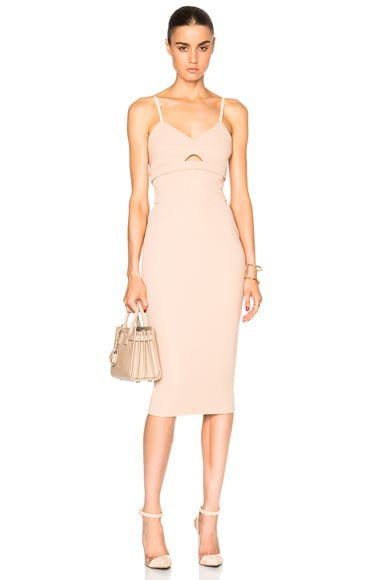 Victoria Beckham Matte Crepe Cami Dress in Nude