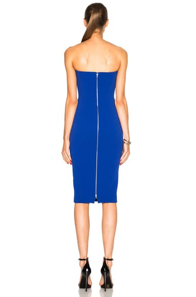 Matte Crepe Corset Fitted Dress