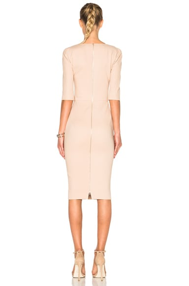 3/4 Sleeve Cut Out Fitted Dress