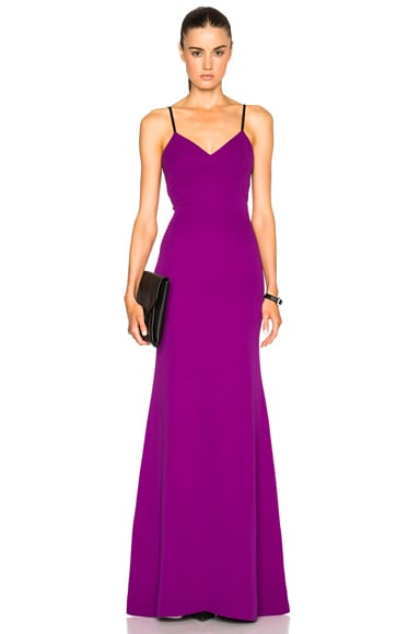 Victoria Beckham Double Crepe Camisole Gown in Plum